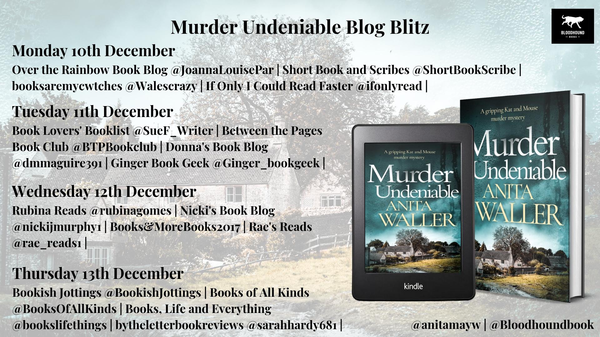 Murder Undeniable Blog Blitz banner